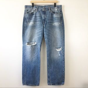 Levi's 514 Extremely Distressed Straight Fit Jeans